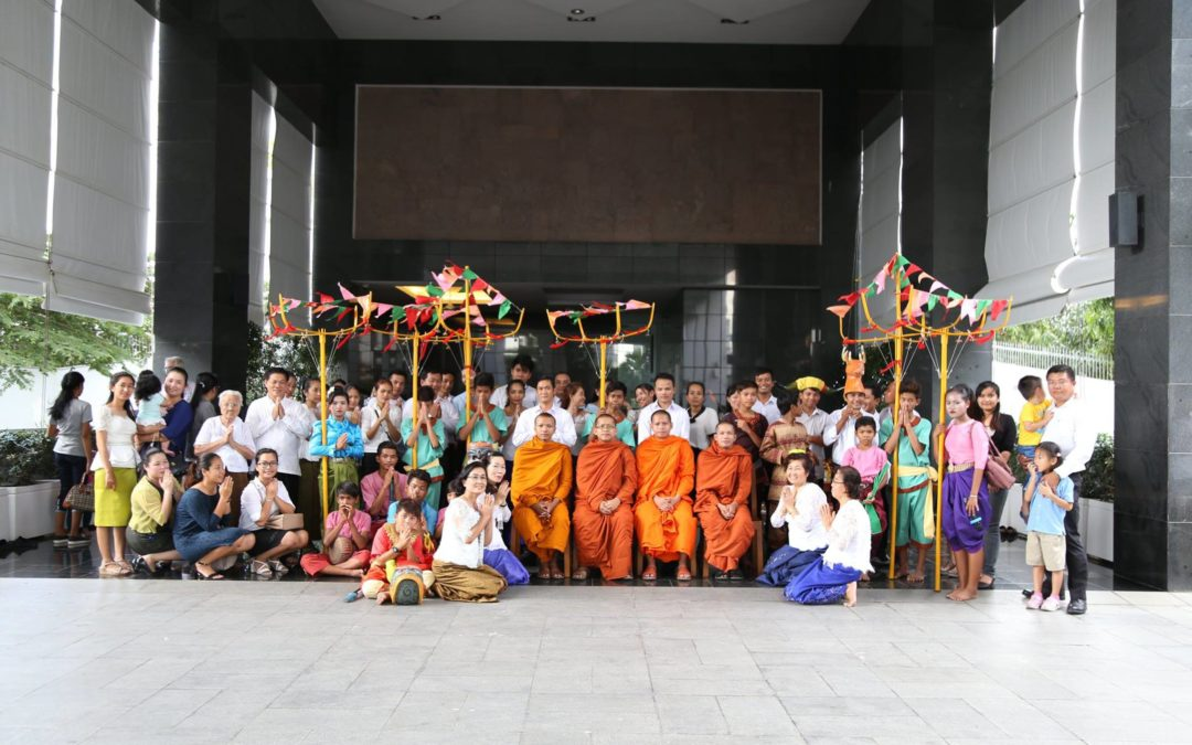 Monks Blessing and Trod Dancing for Khmer New Year